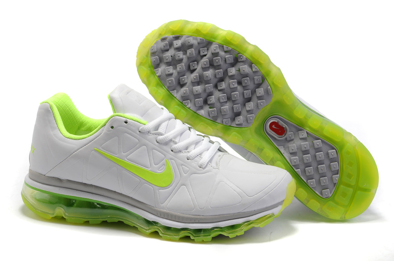 Air Max 2011 Leather Homme Chaussure Gros blanc green