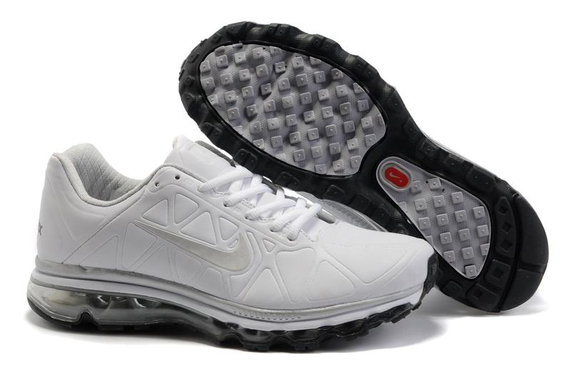 Air Max 2011 Leather Homme Chaussure Gros blanc grey
