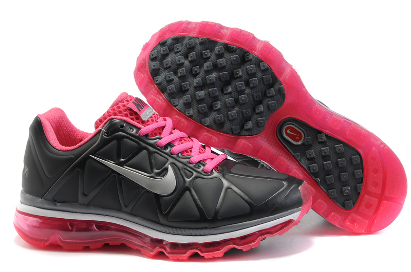 Air Max 2011 Leather Femme Chaussure Discount Sale Noir blanc Fushcia