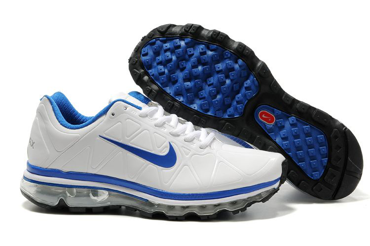 Air Max 2011 Leather Femme Chaussure Discount Sale Bleu blanc