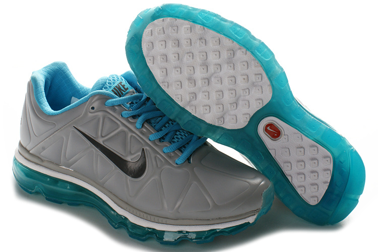 Air Max 2011 Leather Femme Chaussure Discount Sale Gray Noir Bleu