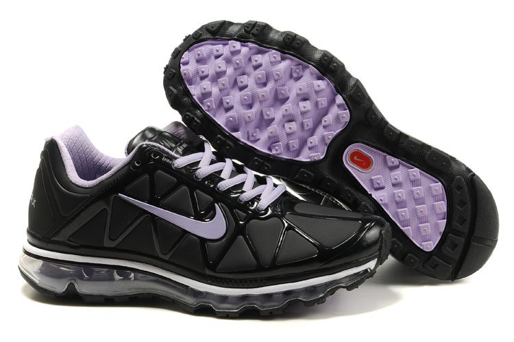 Air Max 2011 Leather Femme Chaussure Discount Sale Purple Noir blanc
