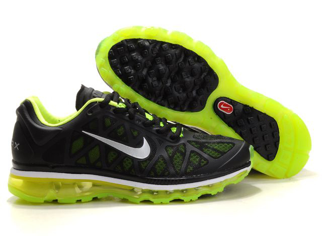 Air Max 2011 Netty Homme Chaussure Discount Fluorescent Green Noir
