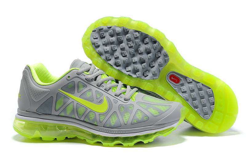 Air Max 2011 Netty Homme Chaussure Discount Fluorescent Green green