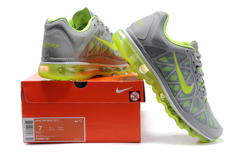 Air Max 2011 Netty Homme Chaussure Discount Fluorescent Green grey
