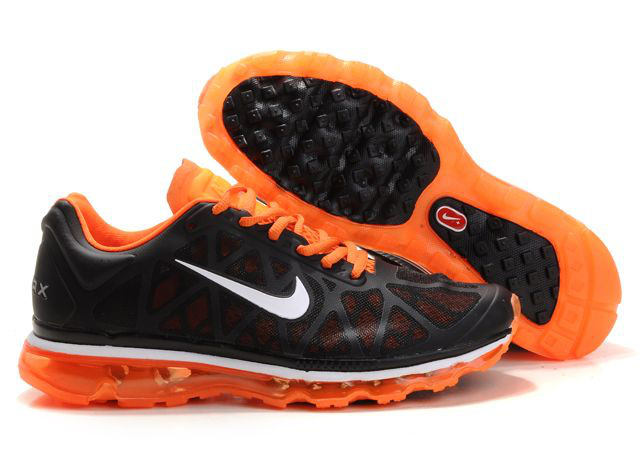 Air Max 2011 Netty Homme Chaussure Discount Noir orange