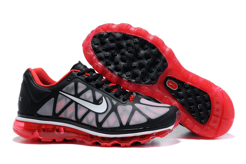 Air Max 2011 Netty Homme Chaussure Discount Noir red blanc