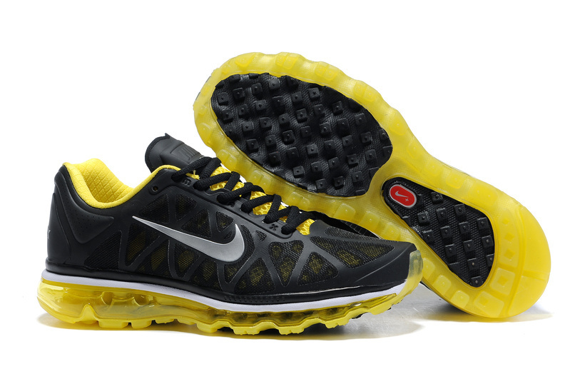 Air Max 2011 Netty Homme Chaussure Discount Noir yellow