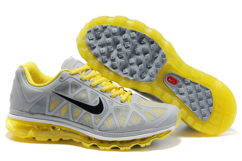 Air Max 2011 Netty Homme Chaussure Discount yellow grey