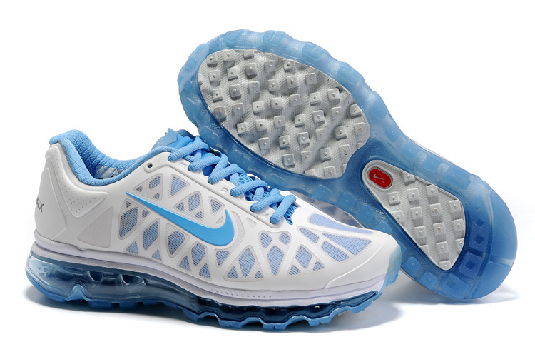 Air Max 2011 Netty Femme Breathable-Running Chaussure Bleu blanc