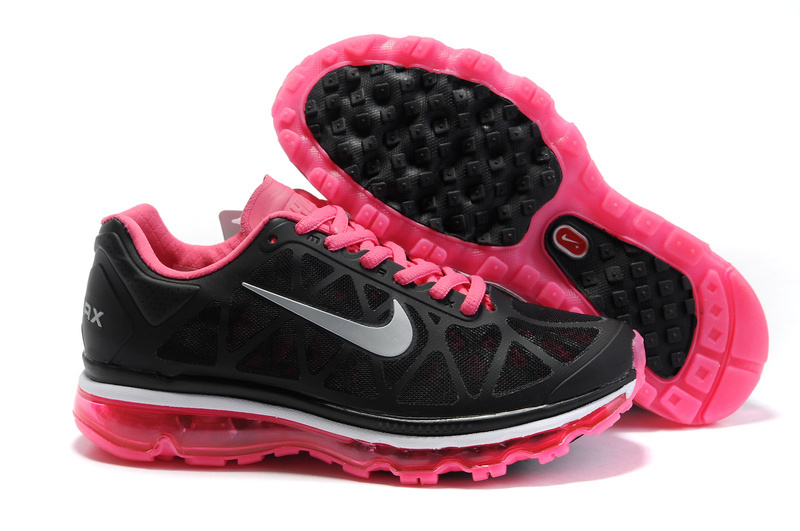 Air Max 2011 Netty Femme Breathable-Running Chaussure Hotpink Noir Gray