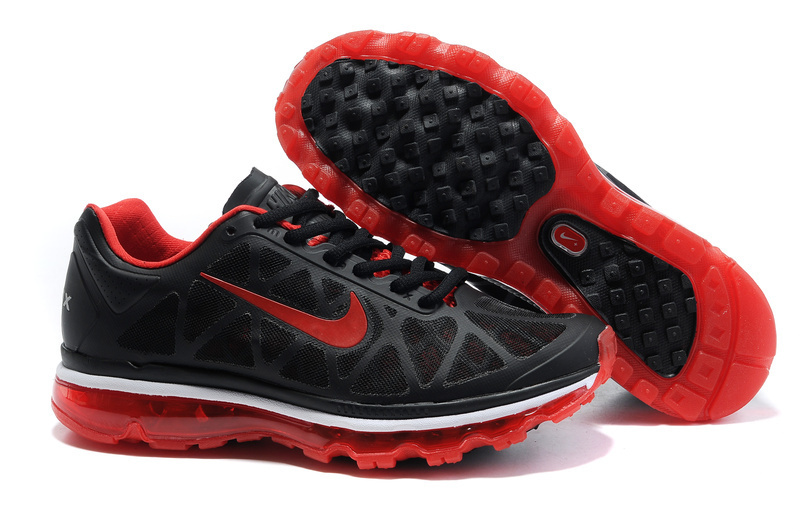 Air Max 2011 Netty Femme Breathable-Running Chaussure Red Noir blanc