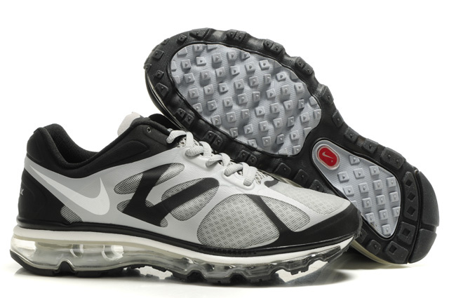 Air Max 2012 Breathable Homme Chaussure Gray Noir