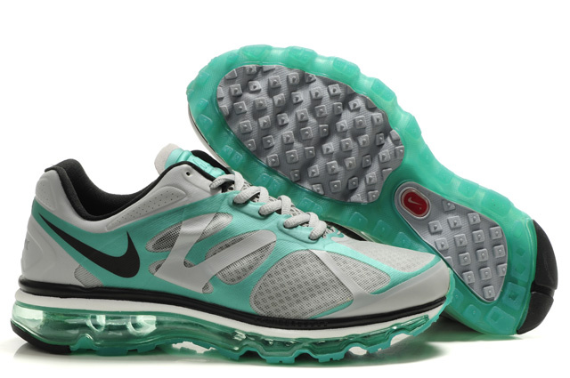 Air Max 2012 Breathable Homme Chaussure Gray Green