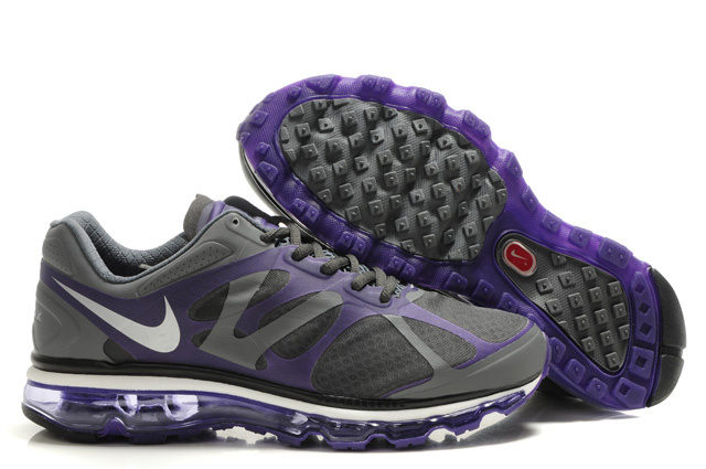 Air Max 2012 Breathable Homme Chaussure Gray Purple