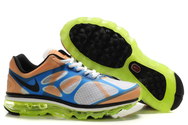 Air Max 2012 Breathable Homme Chaussure blanc Green