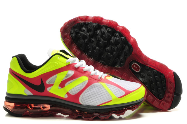 Air Max 2012 Breathable Homme Chaussure blanc Yellow Red