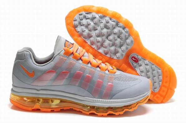 Air Max 360 2011 Grey Orange Chaussure Outlet en ligne pas cher For Men