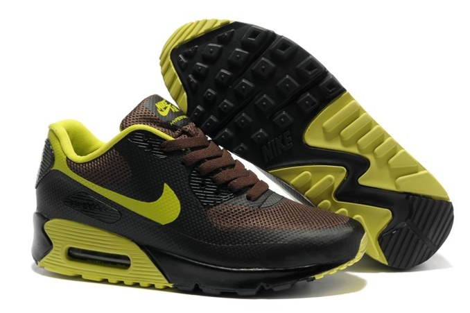 Air Max 90 Hyperfuse Prm Homme Chaussure Shopping en ligne Brown Yellow