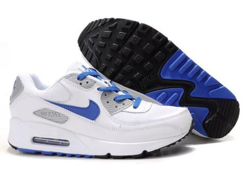 Air Max 90 Homme Chaussure pas cher On Sal blance Bleu Gray