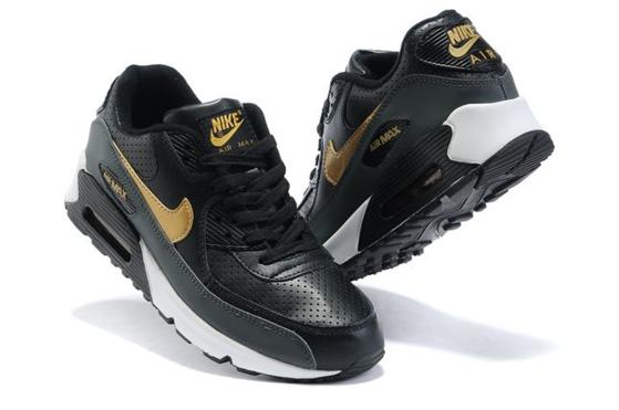 Air Max 90 Homme Chaussure pas cher Gros Noir Yellow