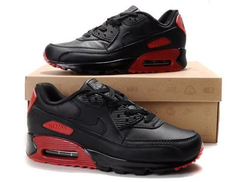 Air Max 90 Homme Chaussure pas cher Gros Red Noir