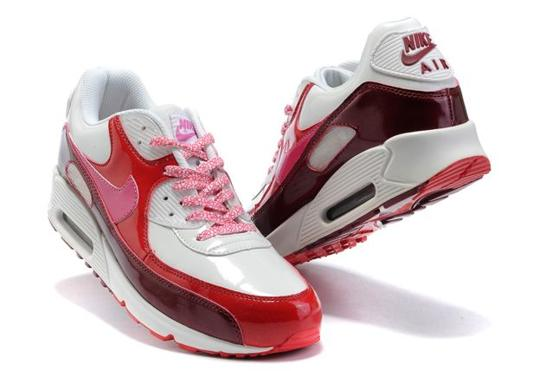 Air Max 90 Homme Chaussure pas cher Gros Red blanc