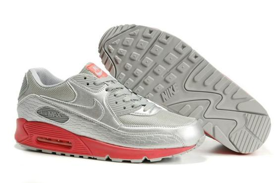 Air Max 90 Homme Chaussure pas cher Gros Silver Pink