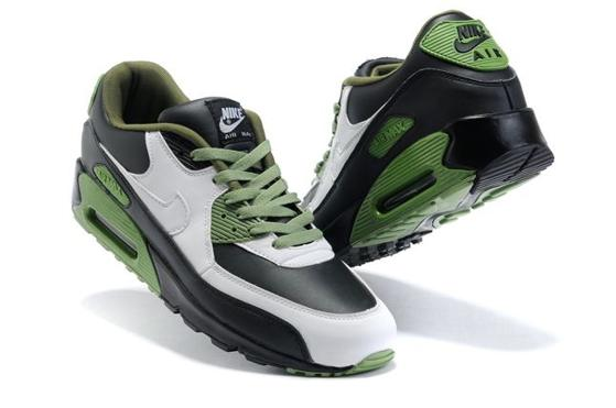 Air Max 90 Homme Chaussure pas cher Gros blanc Noir OliveDrab