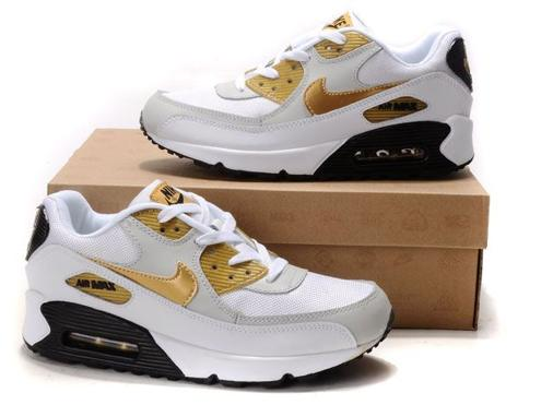 Air Max 90 Homme Chaussure pas cher Gros blanc Yellow Grey