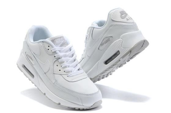 Air Max 90 Homme Chaussure pas cher Gros blancsmoke