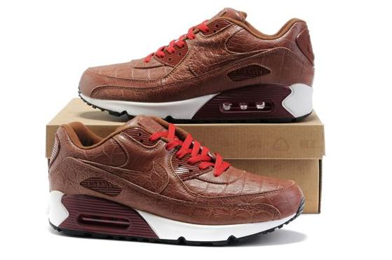 Air Max 90 Homme Chaussure Gros for Men Brown Red