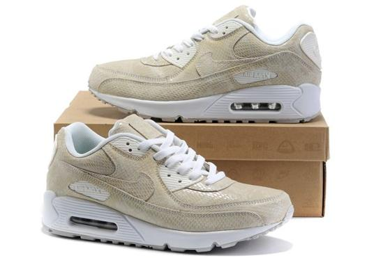 Air Max 90 Homme Chaussure Gros for Men Whitw Almond