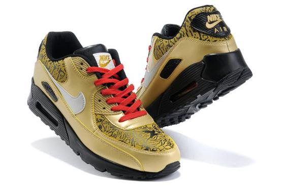 Air Max 90 Homme Chaussure Gros for Men Yellow Red