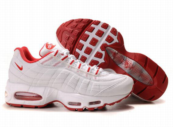 Air Max 95 Homme Chaussure Gros blanc Red