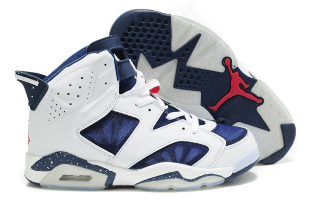 Air jordan 6 VI Retro Homme Chaussure Mesh Breathable blanc Bleu for Sale