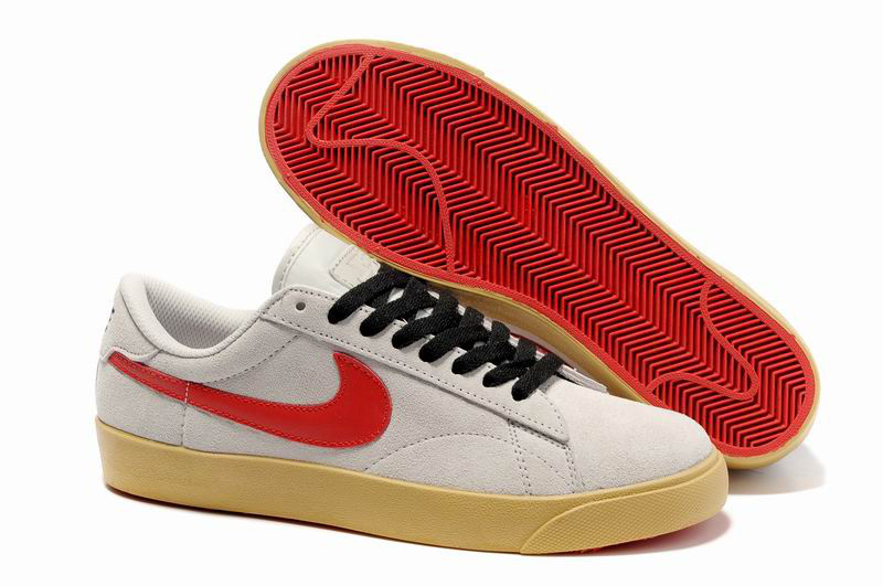 newest 96175 567ca Bas Nike Classic Ac ND Suede Beige Rouge Chaussure