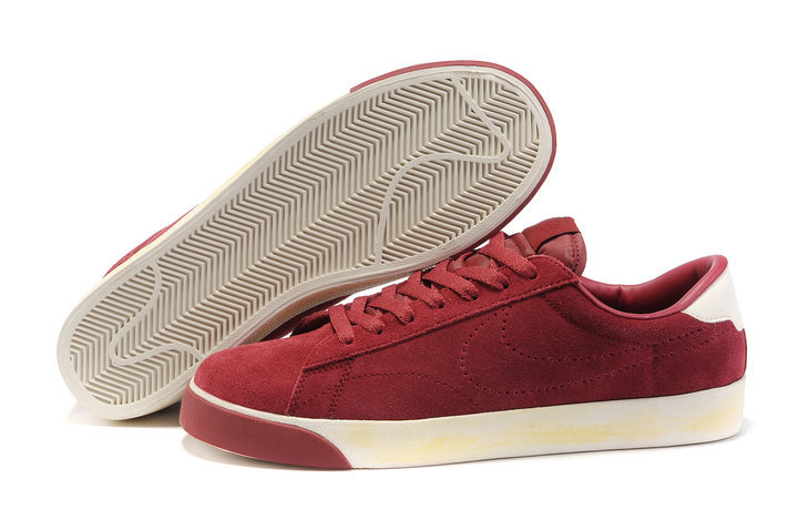 Bas Nike Classic Ac ND Suede Chaussure Profond Rouge