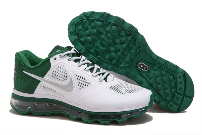 Buy en ligne pas cher Nike Air Max 2013 Trainer 1.3 Homme Chaussure blanc Green