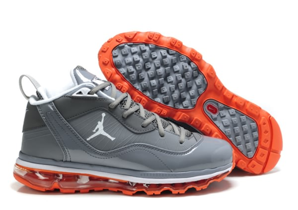 Carmelo Anthony Jordan Melo M8 + Max 09 Chaussures de basket-gray