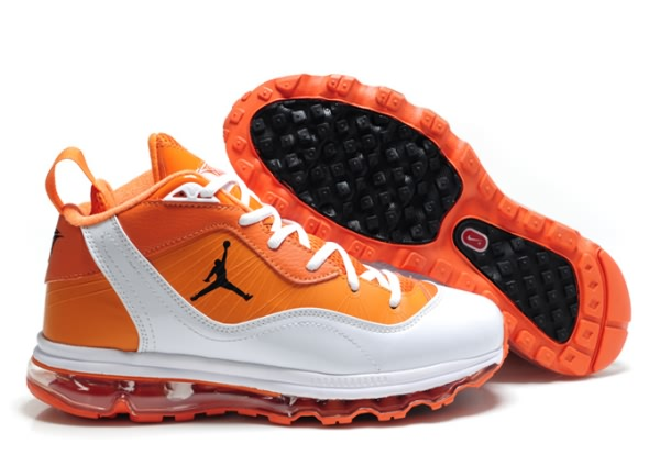 Carmelo Anthony Jordan Melo M8 + Max 09 Chaussures de basket-Blanc/Orange