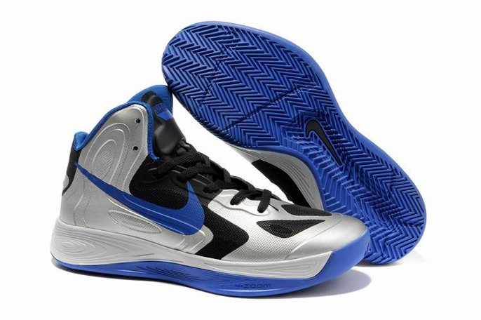 pas cher Jeremy Shu How Lin Nike Zoom Hyperfuse 2011 High Homme Chaussure Bleu Noir Sliver