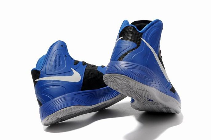 pas cher Jeremy Shu How Lin Nike Zoom Hyperfuse 2011 High Homme Chaussure Bleu Noir blanc-