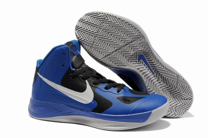 pas cher Jeremy Shu How Lin Nike Zoom Hyperfuse 2011 High Homme Chaussure Bleu Noir blanc