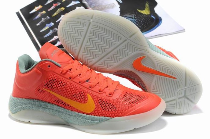 pas cher Nike Zoom Hyperfuse 2011 Low Homme Chaussure Red Grey