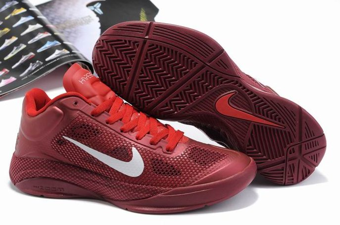 pas cher Nike Zoom Hyperfuse 2011 Low Homme Chaussure Red blanc