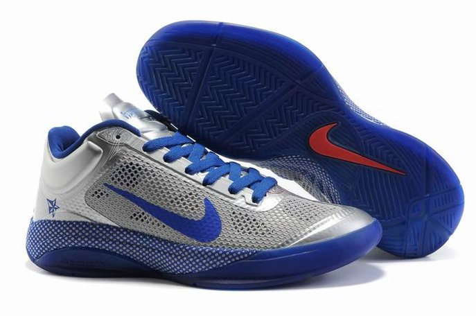 pas cher Nike Zoom Hyperfuse 2011 Low Homme Chaussure Sliver Bleu