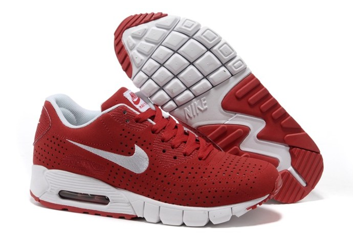 pas cher en ligne Nike Air Max 90 Current Moire Men Chaussure For Sale Red blanc