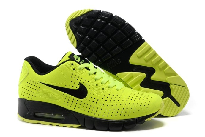 pas cher en ligne Nike Air Max 90 Current Moire Men Chaussure For Sale Yellow Noir