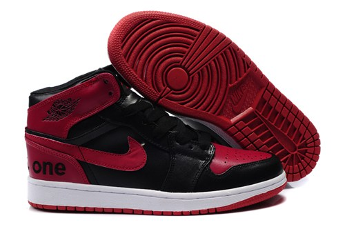 New Air Jordan 1 I Homme Chaussure High Cut Warm For Winter Outlet Noir Red